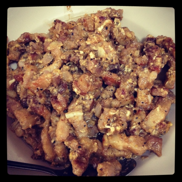 Homemade sisig